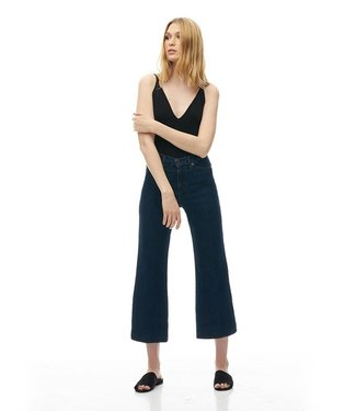 "Yoga Jeans Classic Rise Wide Leg - Dark Denim / 25"" inseam"