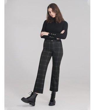 "Yoga Jeans Classic Rise Wide Leg - Plaid / 25"" inseam"