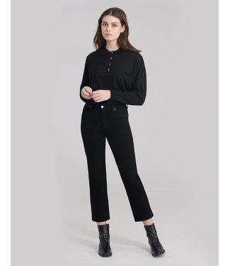 "Yoga Jeans Classic Rise Straight - Black / 25"" inseam"