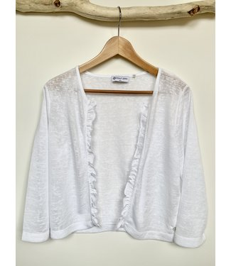 Point Zero White Cardigan