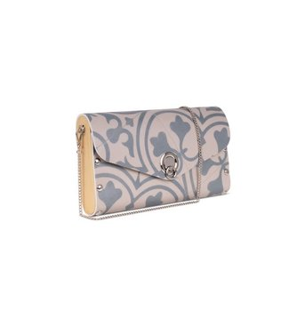 Sol Design White/Blue Big Clutch