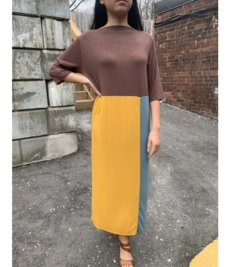PAN Color Block Jersey Dress
