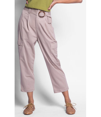 Pink Martini Beige Pants with belt
