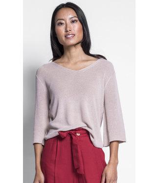 Pink Martini Beige 3/4 Sleeve Sweater