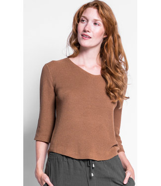 Pink Martini Brown 3/4 Sleeve Sweater