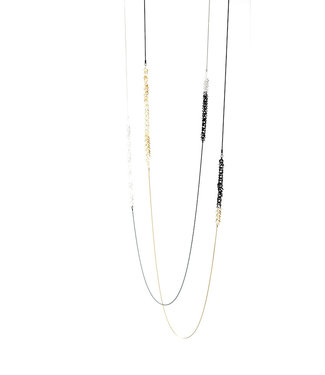 Pursuits Gold/Black Necklace