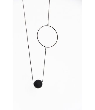 Pursuits Long Black on black necklace