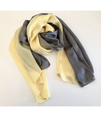 Grey / Yellow Silk Scarf