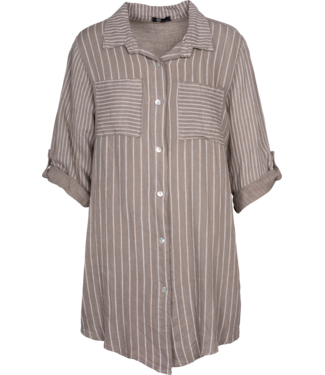 M Made in Italy Stripe Blouse