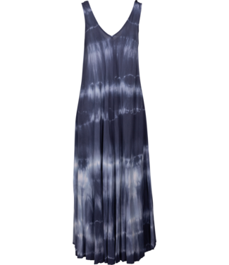 M Made in Italy Navy Blue Tie Dye Dress