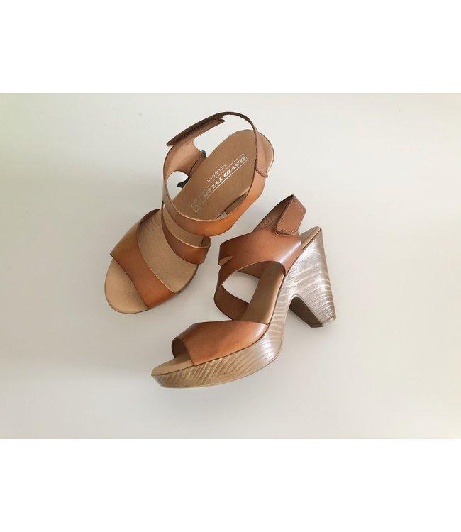David Tyler Cognac Sandals with Heel