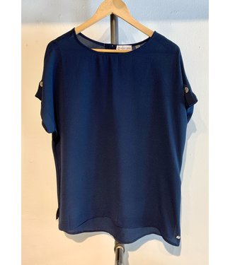 Point Zero Navy Top With Buttons