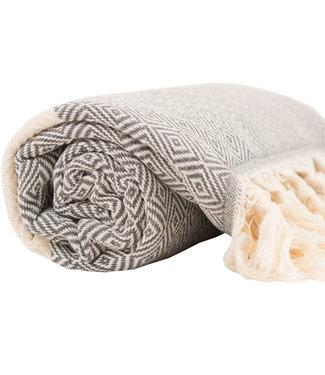 Pokoloko Turkish Towel - Grey Diamond