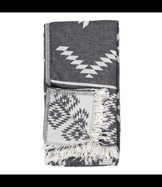 Pokoloko Turkish Towel - Black Reversible