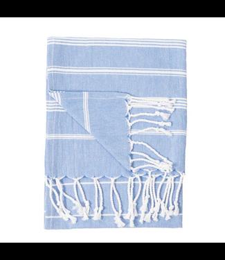 Pokoloko Turkish Hand Towel - Blue with white Stripes
