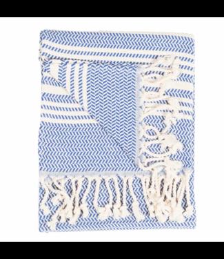 Pokoloko Turkish Hand Towel - Blue & White