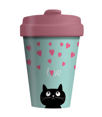 Chic Mic Bamboo cup - Kitty Love