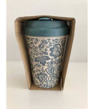 Chic Mic Bamboo cup - Blue Flowers