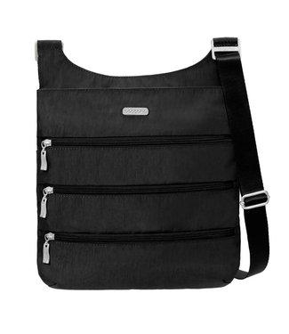 Baggallini Crossbody 3 zipper bag w/ RFID wristlet