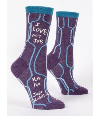 Blue Q I love my job - Crew Socks Women