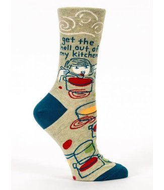 Blue Q Get the hell out of my kitchen - Crew Socks Women