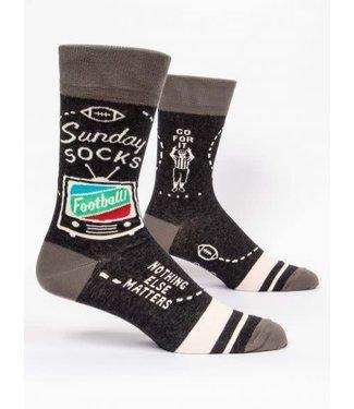 Blue Q Sunday - Crew Socks Men