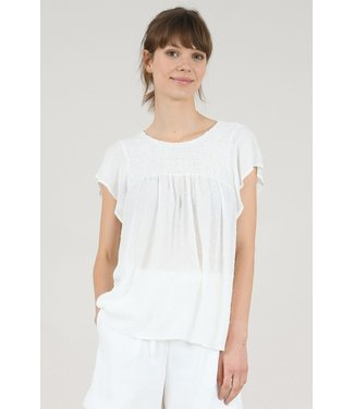 Molly Bracken White Smock Band Top