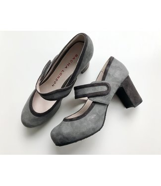 Sascha London Donata Grey/Stone Heels