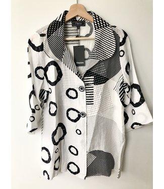 Minkas Geometric Print Jacket