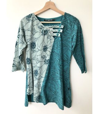 Leopards & Roses Aqua Top
