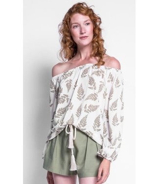 Pink Martini Blouse With Leafes