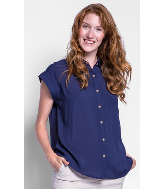 Pink Martini Navy Shirt With Short Sleeve