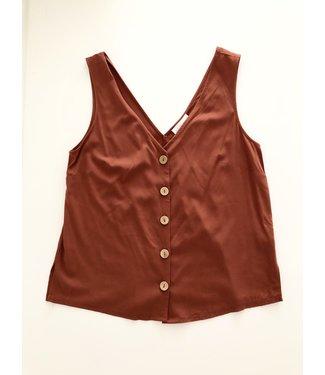 Apricot V-Neck Button Down Vest Top