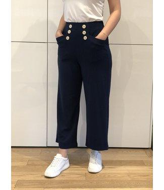 PAN Crop High Waisted Navy Pants
