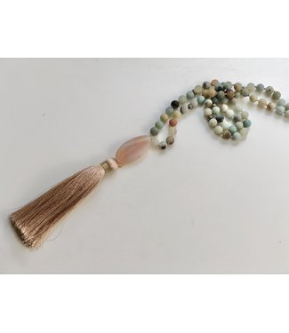 Calming Amazonite Mala Necklace
