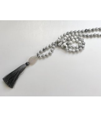 Calming Howlite Mala Necklace