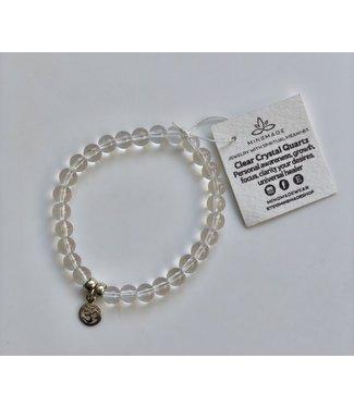 Clear Crystal Quartz Mala Bracelet
