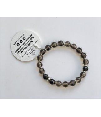 Smoky Quartz Mala Bracelet