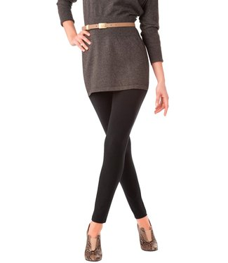 Hue Black Leggings with Wide Waist Band