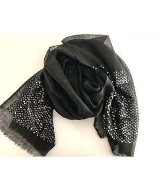 Milo Black scarf with sequins