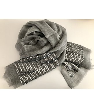 Milo Grey scarf with sequins