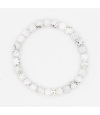 Howlite Mala Bracelet