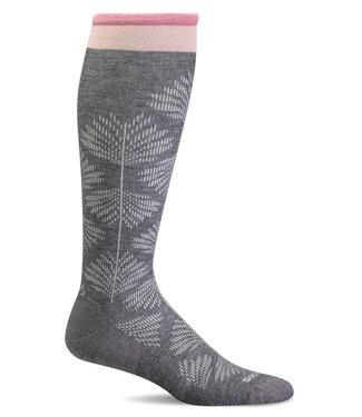 SockWell Compression Socks Grey Floral S/M
