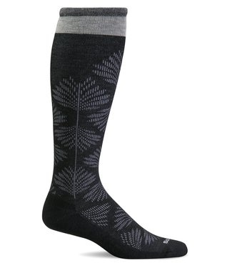 SockWell Compression Socks Black Floral S/M
