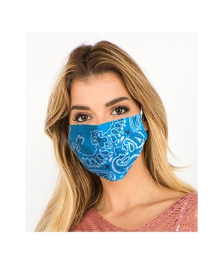 Bandana Face Mask Blue