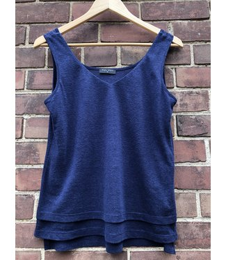 Luc Fontaine Navy Tank Top