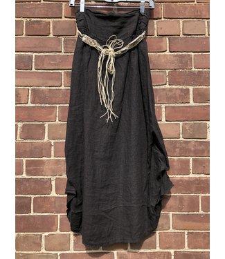 Angela Mara Black Skirt With Belt