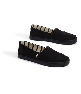 Toms Black/Black Canvas