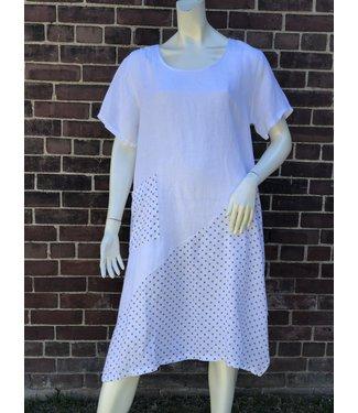 Beyond Capri White Dress With Polka Dots