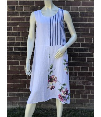 Stripe and Flower Dress